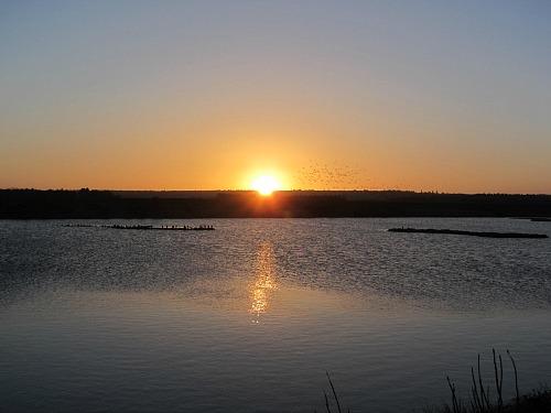 The sunrise at RSPB Snettisham