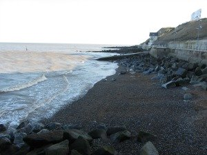 High tide at Sheringham beach