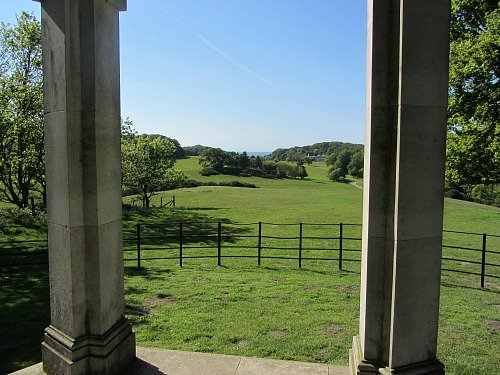 The views from the temple in Sheringham Park, North Norfolk