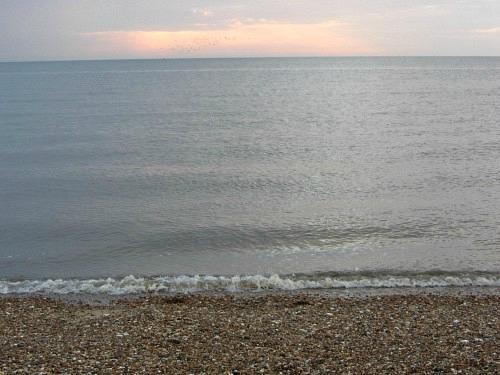 The sunset on Snettisham beach
