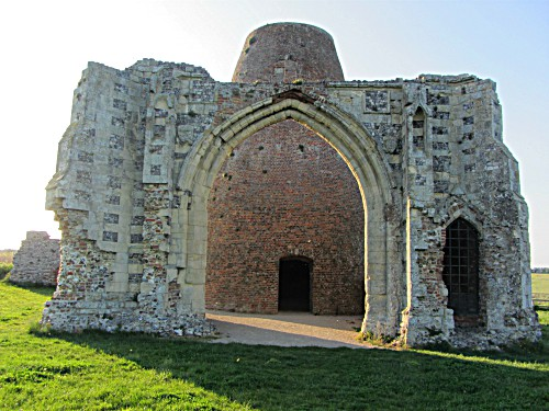 The gatehouse to the ruins of St Benet's Abbey