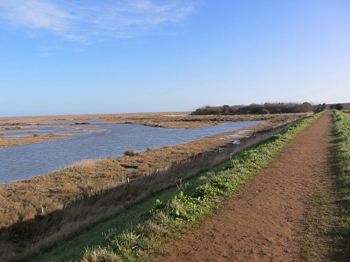 Walking from Wells to Stiffkey along the salt marshes