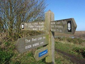 Stiffkey Marshes waymarker
