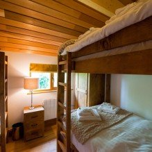 The double bunk bed in one of the lodges