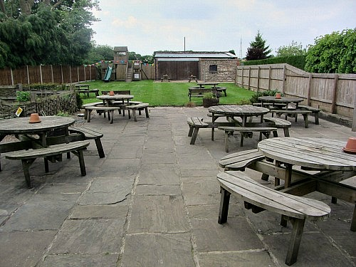 Enjoy the peace in The Dabbling Duck Beer Garden