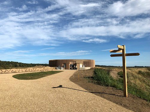 The Lookout visitor centre 500 yards from the beach at Holkham