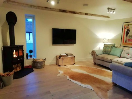 The sitting room in The Loft, Hingham