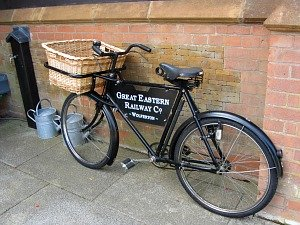The old bicycle at Wolferton Station