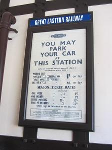 Wolferton station notice memorabilia