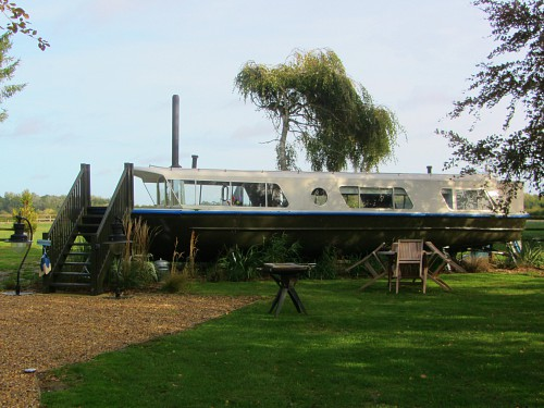 The Woodland Boat at Manor Farm Stays, Hingham